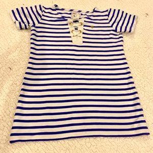 Juicy Couture shirt sleeve nautical top